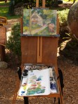 Scott's painting and easel