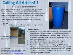 Rain Barrel Announcement