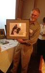 Scott showing one of his donated pieces