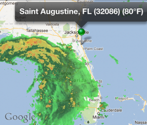 Debby as of 7:15am