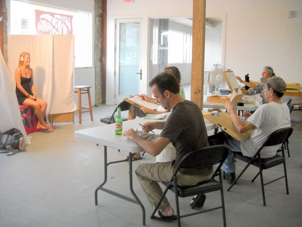 Figure Drawing Class with Art Studio Group 8/7/2012