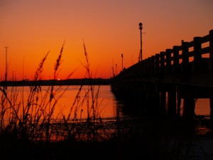 Vilano Beach Pier at Sunset
