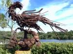 Sculpture at Lakeside Park