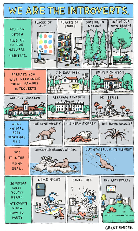 We Are the Introverts by Grant Snider